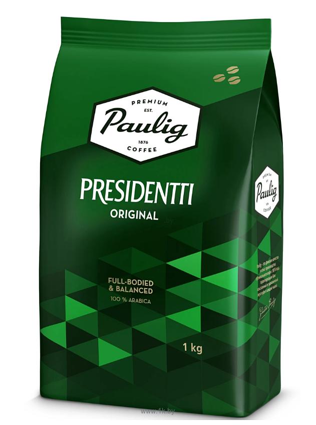 Фотографии Paulig Presidentti Original в зернах 1000 г