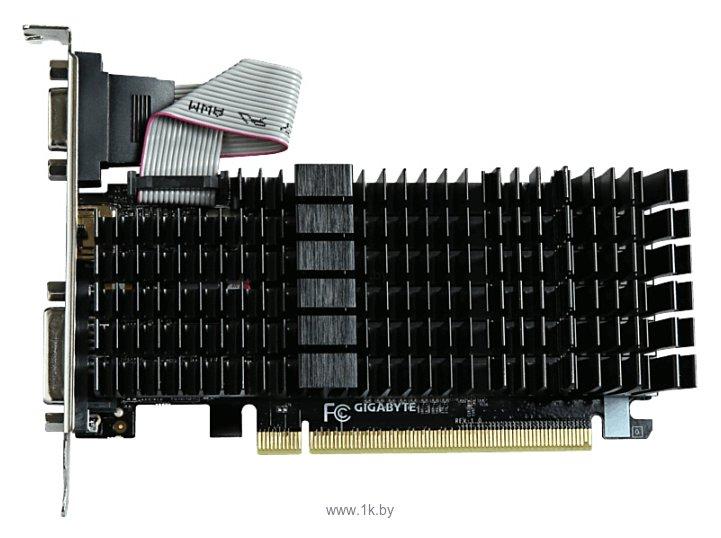 Фотографии GIGABYTE GeForce GT 710 954Mhz PCI-E 2.0 2048Mb 1800Mhz 64 bit DVI HDMI HDCP Silent
