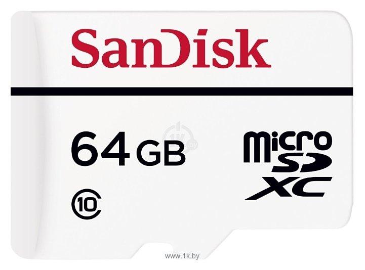 Фотографии Sandisk High Endurance microSDXC Class 10 64GB + SD adapter