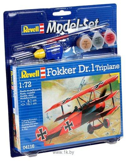 Фотографии Revell 64116 Подарочный набор Немецкий самолет Fokker Dr.1 Triplane