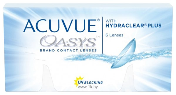Фотографии Acuvue Oasys with Hydraclear Plus -12 дптр 8.4 mm