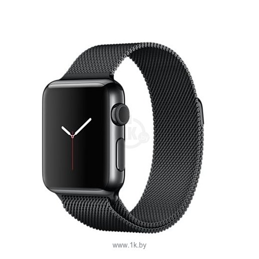 Фотографии Apple Watch 38mm Space Black with Space Black Milanese Loop (MMFK2)