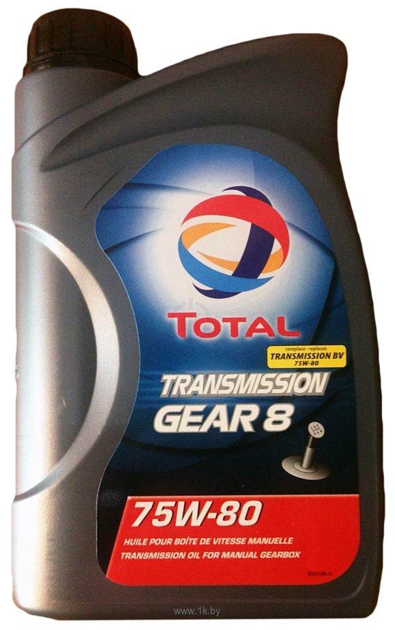 Фотографии Total Transmission GEAR 8 75W-80 2л