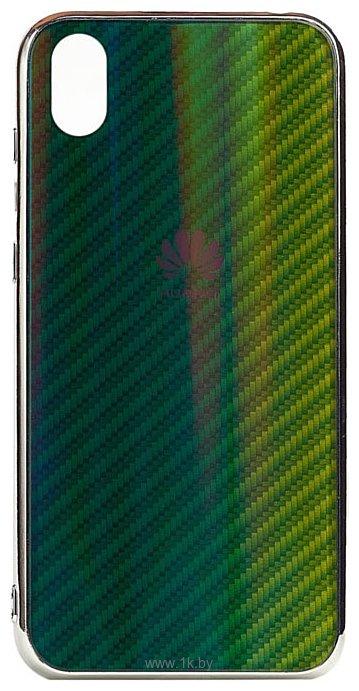 Фотографии EXPERTS Aurora Glass для Huawei Y5 (2019)/Honor 8S с LOGO (зеленый)