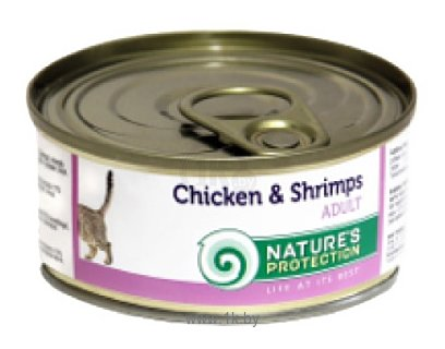 Фотографии Nature's Protection Консервы Cat Adult Chicken & Shrimps (0.1 кг) 1 шт.