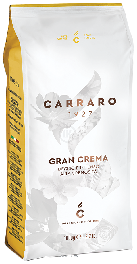 Фотографии Carraro Gran Crema в зернах 1000 г