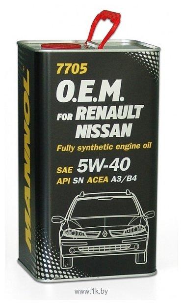 Фотографии Mannol O.E.M. for Renault Nissan metal 5W-40 1л