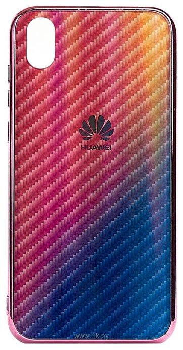 Фотографии EXPERTS Aurora Glass для Huawei Y5 (2019)/Honor 8S с LOGO (розовый)