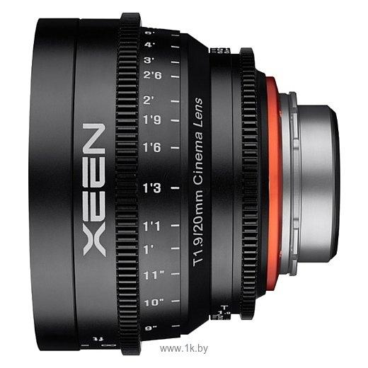 Фотографии Xeen 20mm T1.9 Sony E