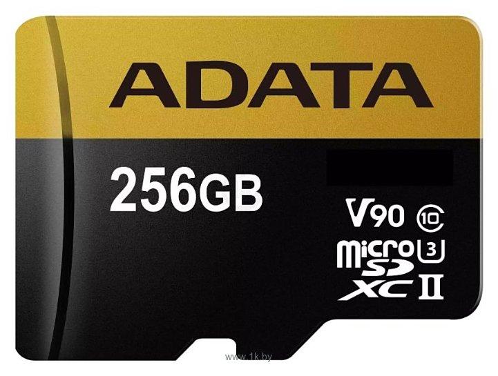 Фотографии ADATA Premier ONE microSDXC UHS-II U3 Class 10 256GB + SD adapter