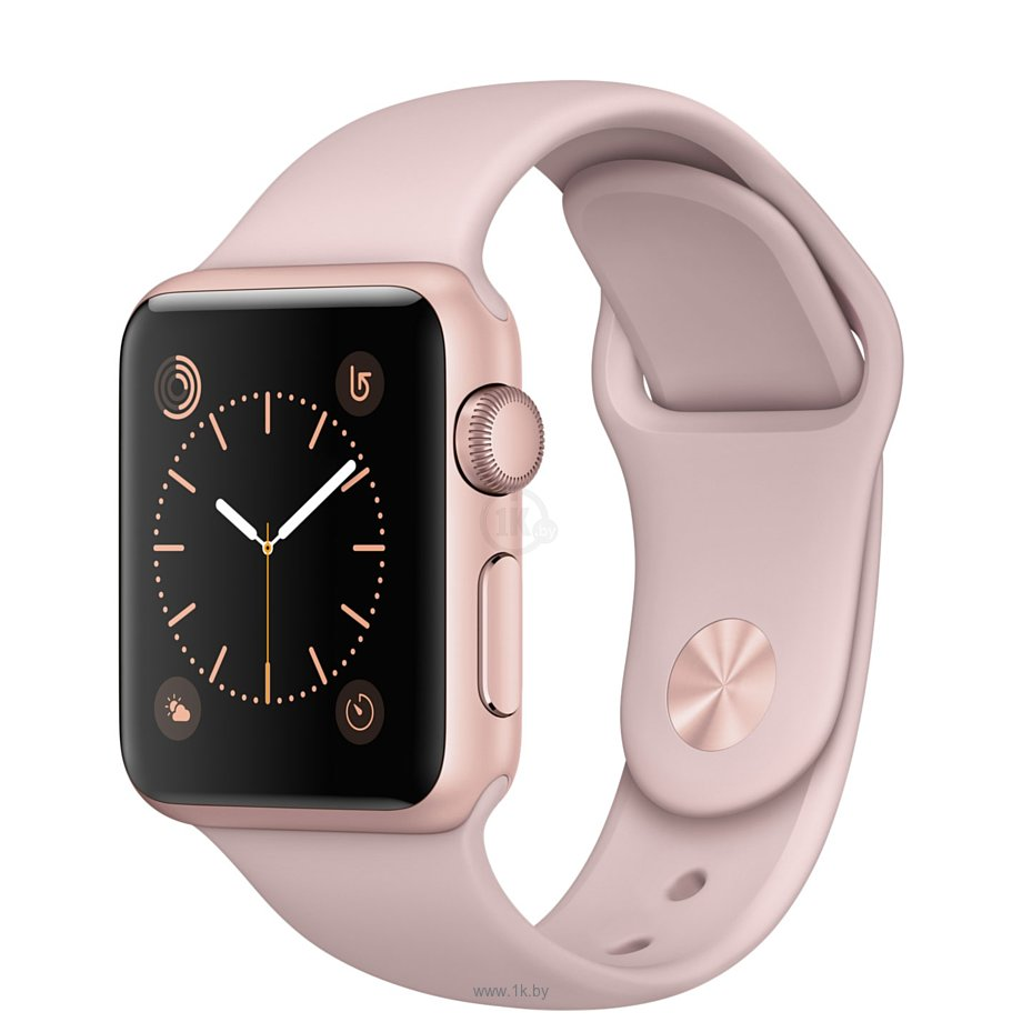 Фотографии Apple Watch Series 2 38mm Rose Gold with Pink Sand Sport Band (MNNY2)