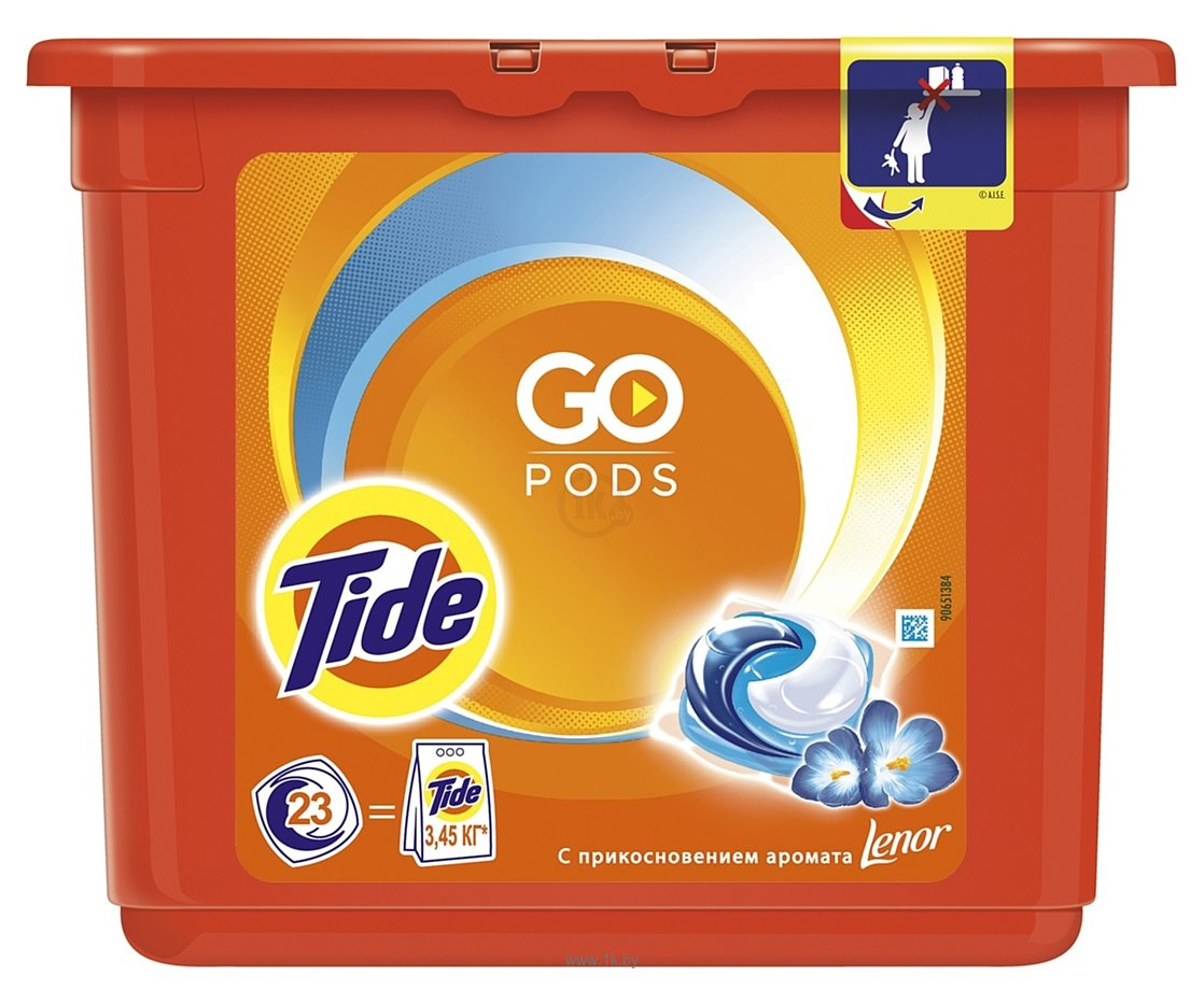 Фотографии Tide Go Pods с прикосновением аромата Lenor (23х25.2 г)