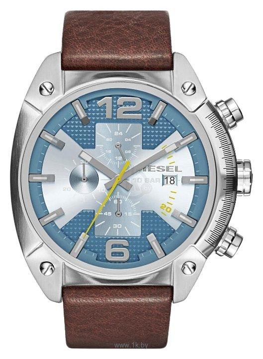 Наручные часы Diesel DZ 4340 / DZ4340. Кварцевые наручные часы с хронографом на кожаном ремешке.Тип механизма