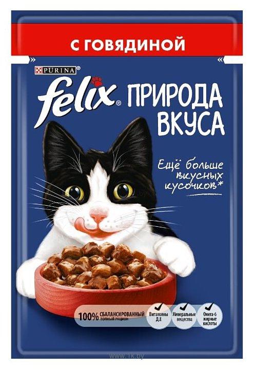 Фотографии Felix Природа вкуса с говядиной 1 шт. (0.085 кг)
