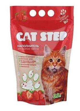 Фотографии Cat Step Cиликагелевый с ароматом клубники 3.8л