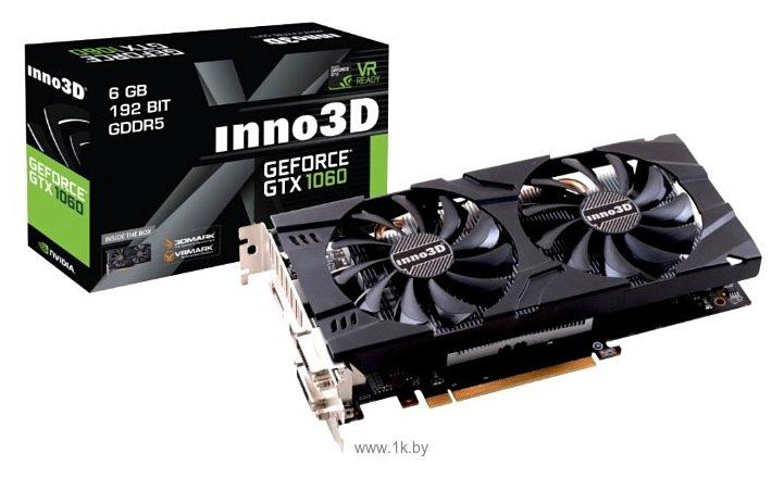 Фотографии Inno3D GeForce GTX 1060 1506Mhz PCI-E 3.0 6144Mb 8000Mhz 192 bit 2xDVI HDMI HDCP Twin X2
