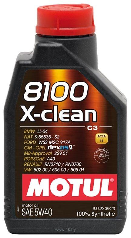 Фотографии Motul 8100 X-clean 5W40 5л