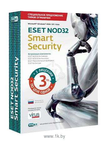 Фотографии NOD32 Smart Security (3 ПК, 1 год) продление лицензии