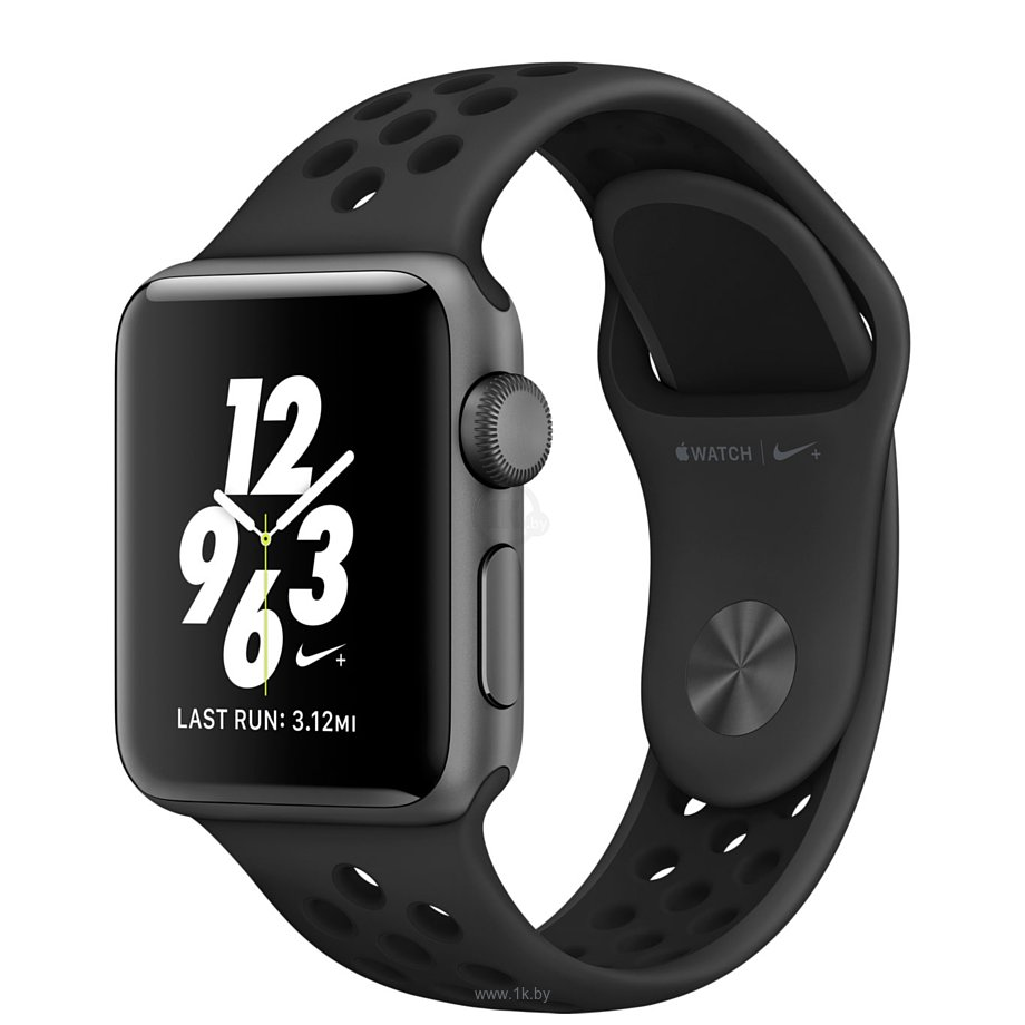 Фотографии Apple Watch Nike+ 38mm Space Gray with Black Nike Sport Band (MQ162)