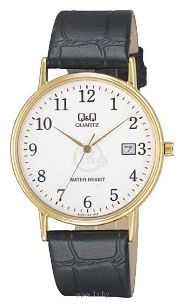 Модель: Q&Q BL02-103 Наручные часы мужские Механизм: Кварцевый Корпус: Стальной с позолотой Циферблат: Шампань Стекло