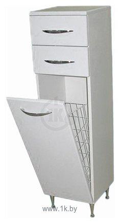 Фотографии СанитаМебель Камелия-42к Д2 шкаф-полупенал с корзиной