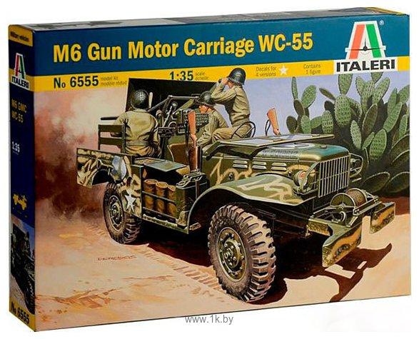 Фотографии Italeri 6555 Самоходная артиллерийская устновка M6 WC-55