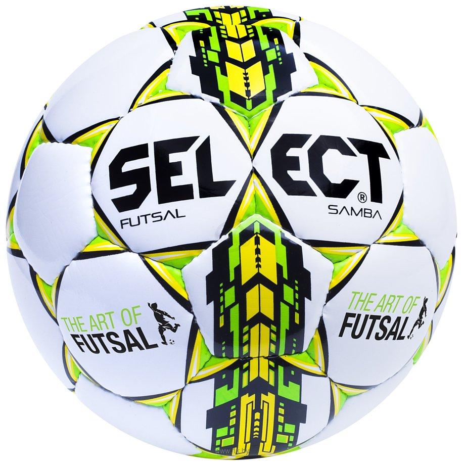 Фотографии Select Futsal Samba (белый/желтый/зеленый)