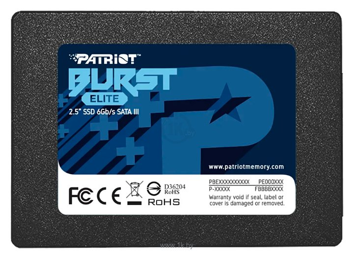 Фотографии Patriot Memory Burst Elite 960 GB PBE960GS25SSDR
