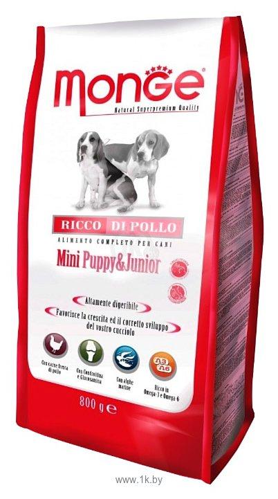 Фотографии Monge (3 кг) Dog Mini Puppy&Junior – Курица с рисом. Для щенков и юниоров мелких пород