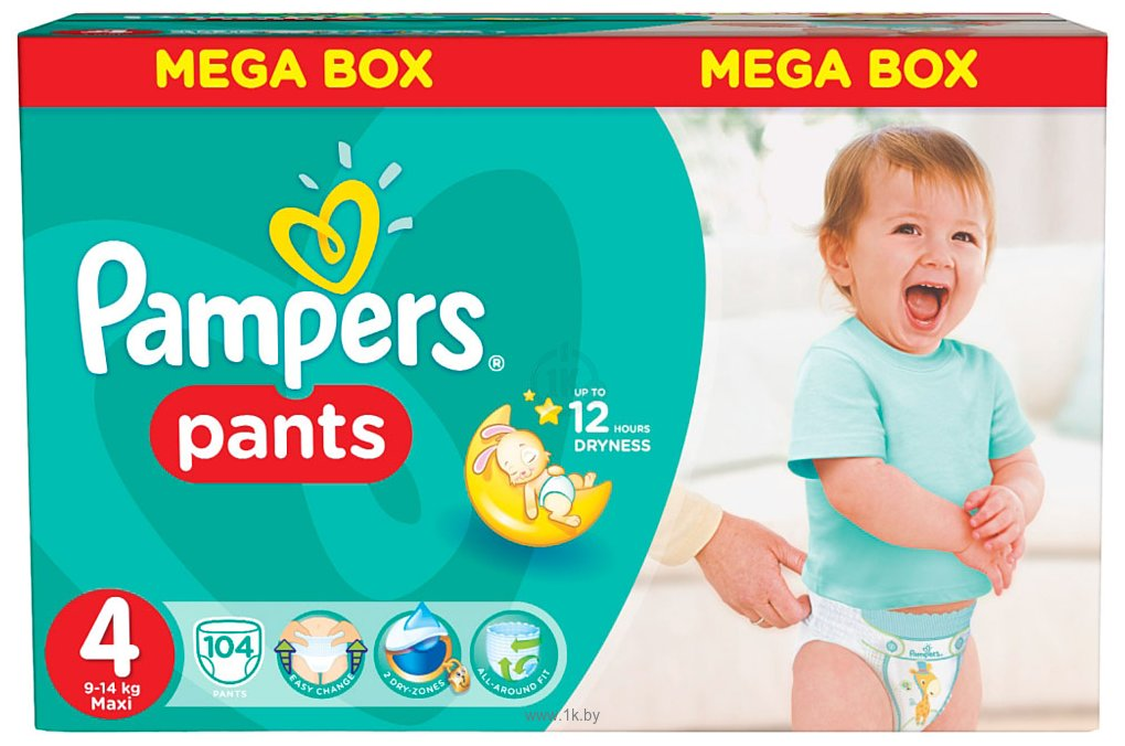 Фотографии Pampers Pants 4 Maxi 104шт