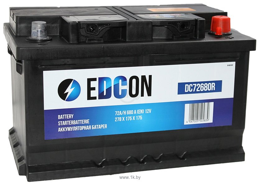 Фотографии EDCON DC72680R (72Ah)