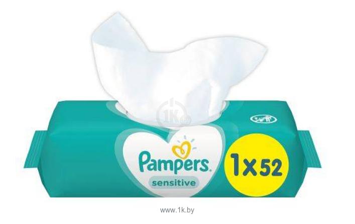 Фотографии Pampers Sensitive 52 шт