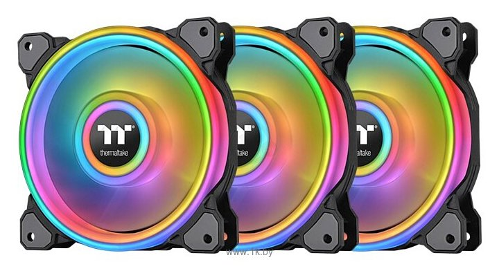 Фотографии Thermaltake Riing Quad 12 RGB Radiator Fan TT Premium Edition (3 Fan Pack)