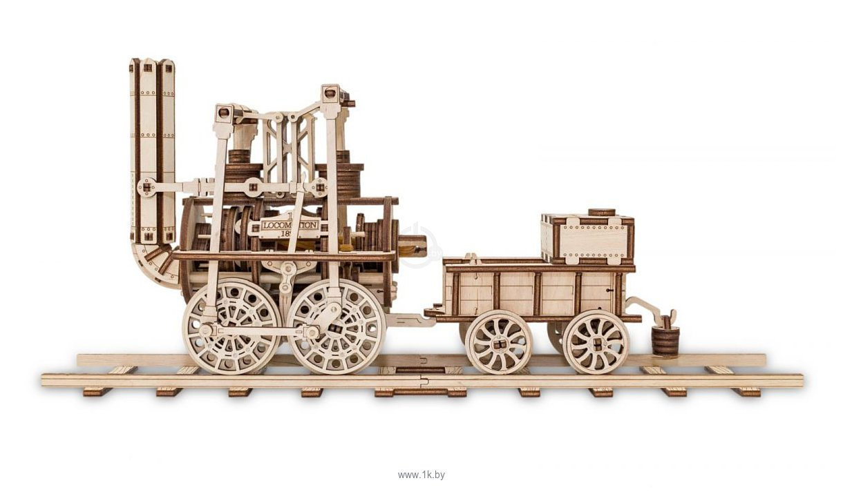 Фотографии Eco-Wood-Art Локомотив с резиномотором