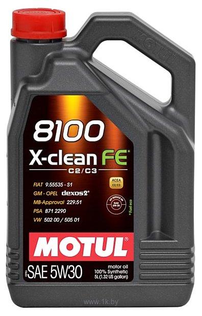 Фотографии Motul 8100 X-clean FE 5W-30 5л