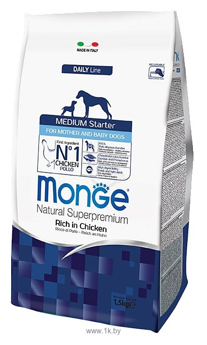 Фотографии Monge Dog Medium Starter (1.5 кг)