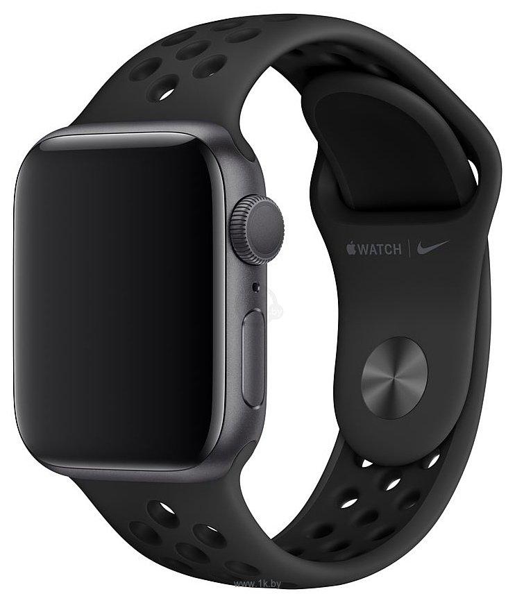 Фотографии Apple Nike 40 мм (антрацитовый/черный, S/M и M/L) MX8C2