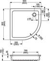 Roltechnik Hawaii 900x900x160