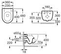 Roca Meridian-N Compacto (346248000) без крышки