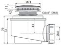Alcaplast A47CR-50