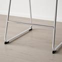 Ikea Бернгард (хром/мьюк темно-коричневый) 604.614.42