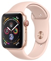 Apple Watch Series 4 GPS + Cellular 44mm Stainless Steel Case with Sport Band