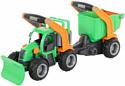Полесье ГрипТрак Трактор снегоуборочный с полуприцепом 37381