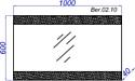 Aqwella Бергамо 100 зеркало с подсветкой (Ber.02.10)