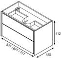 Roca Тумба Ronda 60 ZRU9302963 с умывальником Gap 60 (белый/антрацит)