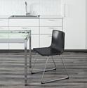 Ikea Бернгард (мьюк темно-коричневый/хром) (903.597.92)