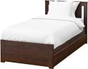 Ikea Сонгесанд 200x90 (коричневый, 2 ящика, Лонсет) 392.409.71
