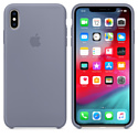 Apple Silicone Case для iPhone XS Lavender Gray