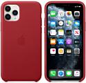 Apple Leather Case для iPhone 11 Pro (красный)