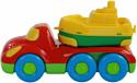 Полесье Дружок автомобиль для перевозки кораблика+кораблик Буксир 48370